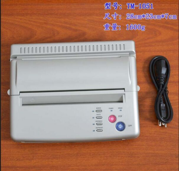 White Transparent button Tattoo Transfer Machine thermal Copier Stencil Machine with free shippping<br><br>Aliexpress
