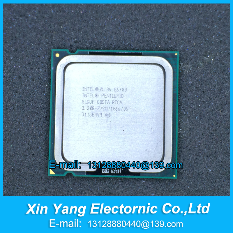 Free shipping Inte-l Pentium E6700 CPU Processor (3.2Ghz/ 2M /1066GHz) Socket 775 SLGUF scrattered pieces(China (Mainland))