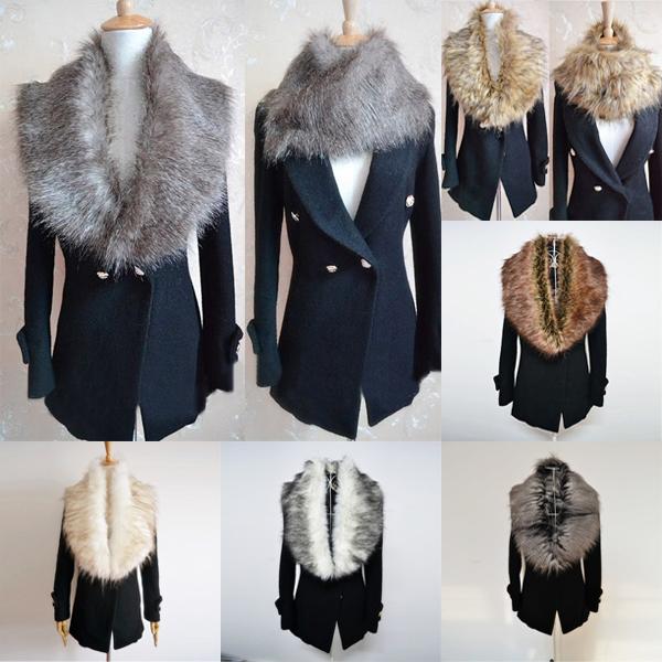 HOT Trendy Womens Faux Fur Collars Shrugs Scraf Snood Cape Neck Warmer Shawl Wrap Free Shipping & Drop Shipping(China (Mainland))