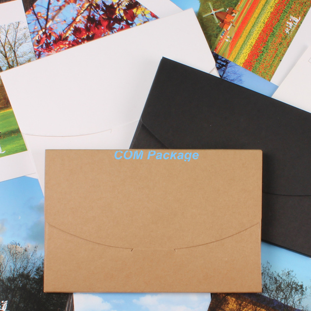 10.5*16+0.5cm Creative Kraft Paper Envelope Photos Postcard Box Business Letter Party Invitations Greeting Cards Cover Packaging - COM Package store