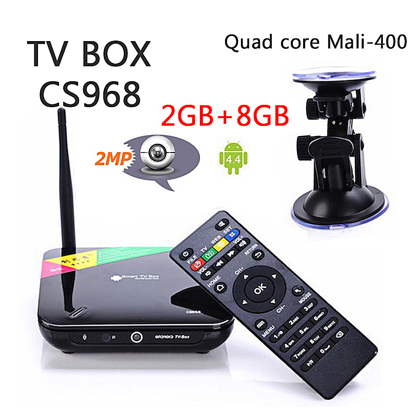 New Original CS968, android 4.4.2 Quad Core Android TV Box, Mic,RK3188T,2G RAM, 8G ROM, WiFi,Remote Control, Free Shipping<br><br>Aliexpress