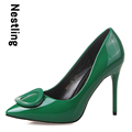 2016 Brand New Arrival Spring Summer women pumps Fashion Pointed toe Patent Leather women high heels