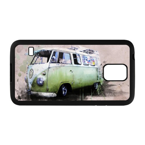 Car Vintage Volkswagen VW Van Bus Cool Custom Samsung Galaxy S5 Cell Phone Case Cover Top DIY Wholesale 2(China (Mainland))