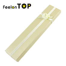 Fashion Popullar Wholesale Items Colorful Paper Long With Bowknot Pendent Necklace Jewelry Box Gift Package Maxyum Wholesale(China (Mainland))