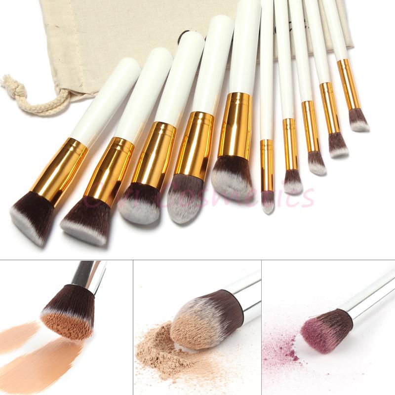 10 Pcs Professional Makeup Brushes Set Makeup Brushes Kit Free Draw String Makeup Bag(China (Mainland))