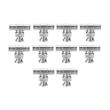 EDT-10pcs BNC Tee Adapter Jack Plug Jack Coaxial Splitter Lot Pack for Surveillance Equipment(China (Mainland))
