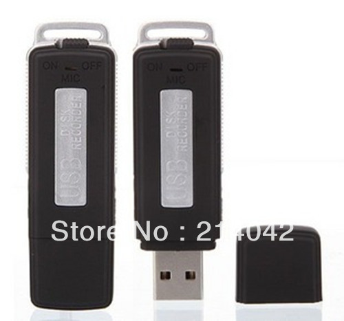Free shipping 2 in 1 Mini 8GB USB Digital Audio Voice Recorder Dictaphone Flash Drive Disk WAV Format Black Color(China (Mainland))