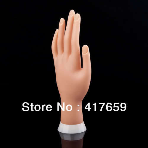 1pc painting practice tool Adjustable Nail Art model Fake Hand for Training and Display(China (Mainland))