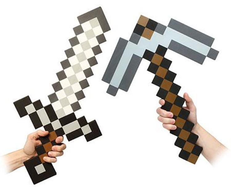 sword and pickaxe (iron)