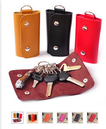 100pcs/lot fedex fast free shipping Fashion korean style Mini Key Wallets Candy Colors PU Leather Bags For Key holders 10.5*6cm<br><br>Aliexpress