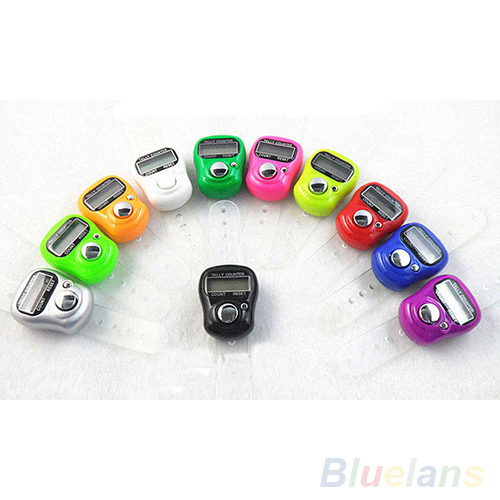 Electronic Row Counter Finger Ring Golf Digit Stitch Marker LCD Tally Counter 4DH9
