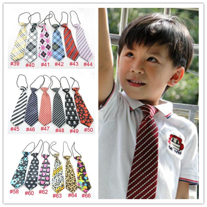 Retail Boy toddle Tie Kids Baby School Boy Necktie Neck Tie Elastic Solid Color Satin Freeshipping 1pc LD001(China (Mainland))