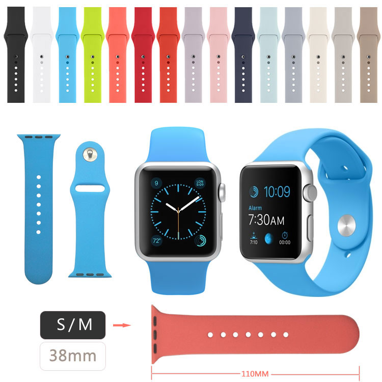 38MM S / M Size Silicone Band for Apple Watch Sport Version(China (Mainland))