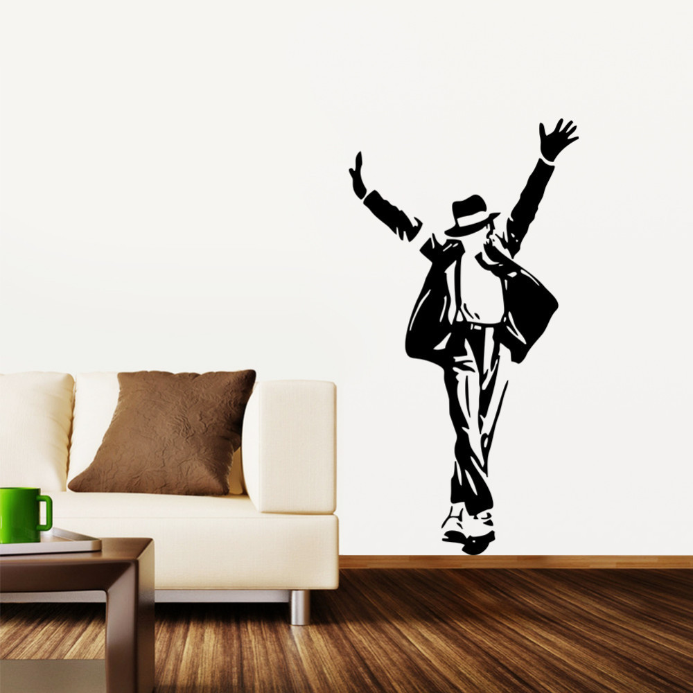 Hot Michael Jackson removable wall 3D sticker Wall Decor Decal Art Wall Paper poster adhesive DIY Home Decor Parede freeshipping