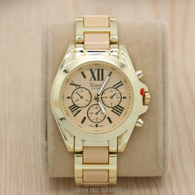 Fashion Geneva Brand Gold Alloy Watch Women Steel Quartz Wrist Watch Female Hours Relogio Feminino<br><br>Aliexpress