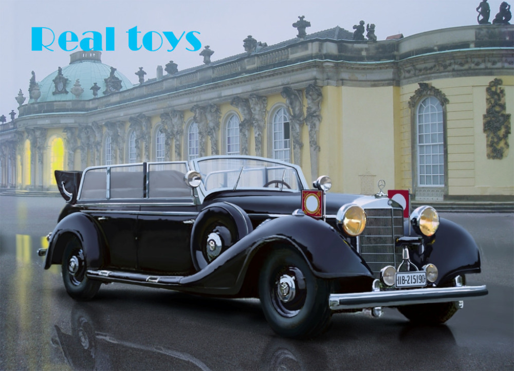 New Arrivial! ICM model 35533 1/35 Typ 770K (W150) Tourenwagen, WWII German Leader's Car plastic model kit(China (Mainland))