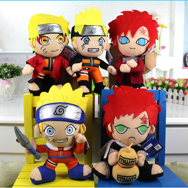 5pcs/lot 30cm Naruto Plush Toys Doll for Kids Cute Naruto Uzumaki Naruto & Gaara Plush Dolls Soft Stuffed Toys Figure Toy Gifts(China (Mainland))