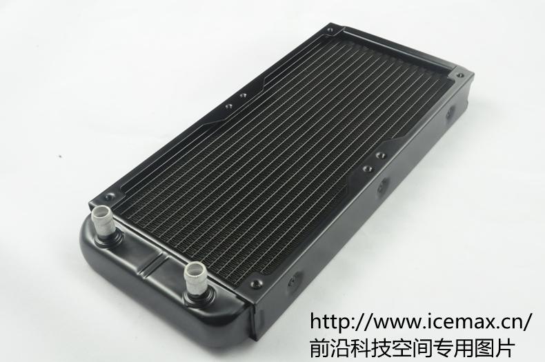 240mm fin aluminium computer Water discharge liquid heat exchanger threaded thread radiator for 2*12cm fans. L240-BHB3(China (Mainland))