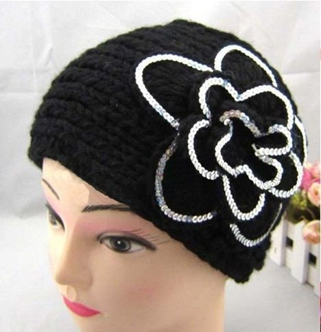 CBRL Hotsale women knitted headband, sequin/ paillette hairband,can Mix color and quantity,EMS/DHL free shipping