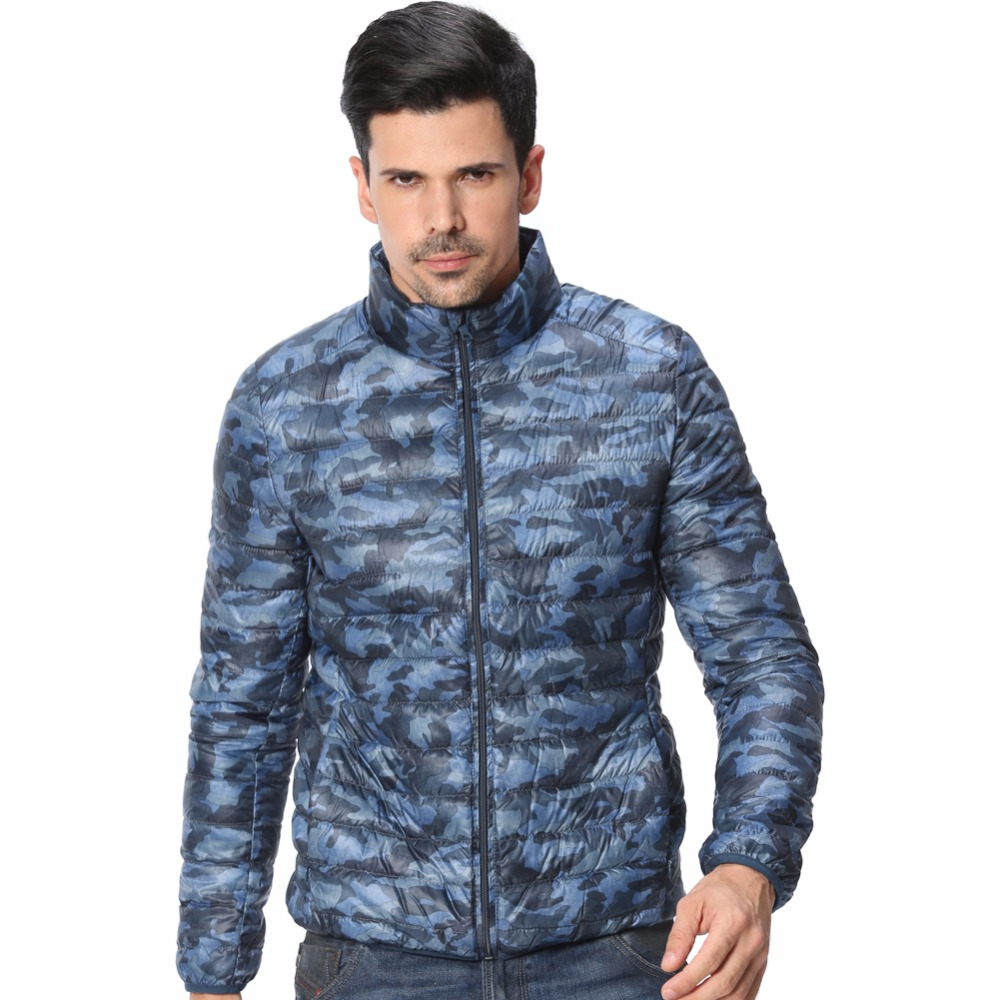 Men Ultralight Camouflage 90% Duck Down Jackets 2016 New Arrival Fashion Snow Packable Winter Puffer Parkas Warm Coats F1097-EU(China (Mainland))