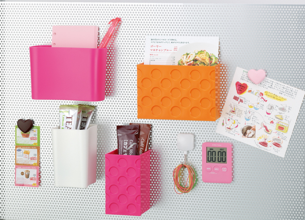 Simple Colorful Plastic Fridge Magnetic Sundries Holders Desktop Storage Boxes Organizers Rangement Frigo Diversos Free Shipping(China (Mainland))