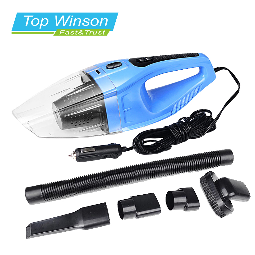 120W Portable Car Vacuum Cleaner Wet And Dry Dual Use Auto Cigarette Lighter Hepa Filter 12V Blue Colour(China (Mainland))