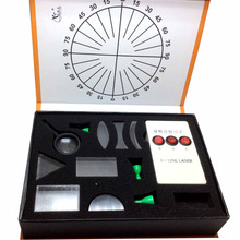 Physical Science Optical Experiments KIT Triangular Prism Convex Lens Concave Mirror Fisica Student's Optics Physics Experiment(China (Mainland))
