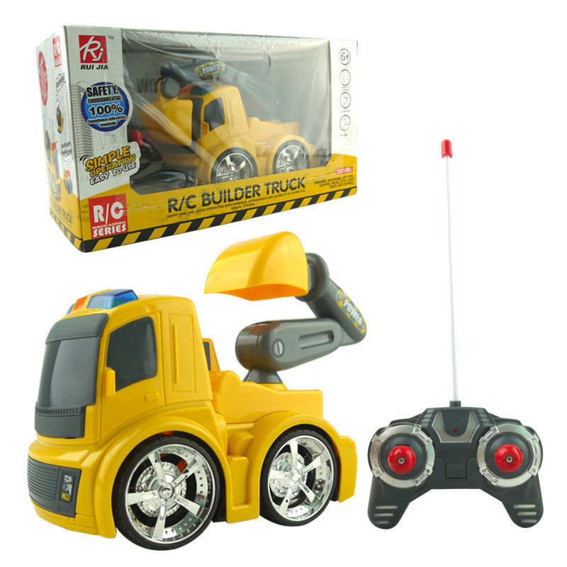 ELECTRIC RC EXCAVATOR DIGGER RADIO REMOTE CONTROL KID CONSTRUCTION TRUCK LED TOY BABY TOY(China (Mainland))