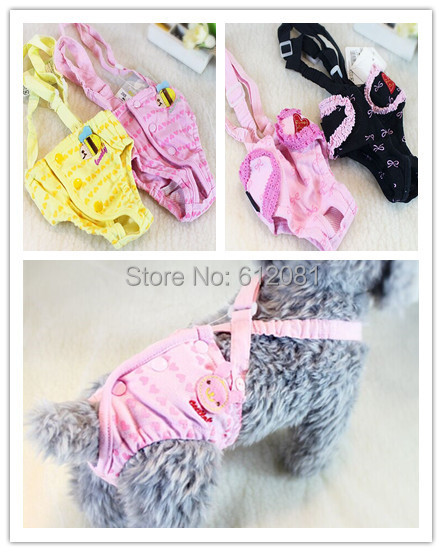 Free shipping Pet Dog Shorts cotton heart strap sanitary Physiological pants anti-harassment Bib  underwear diapers Trousers
