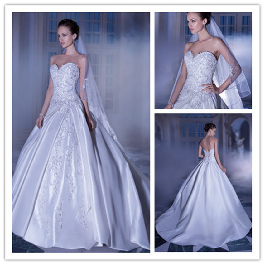 Elegant Wedding Dress Open Back : Gown open back women bridal gowns high quality in wedding dresses from