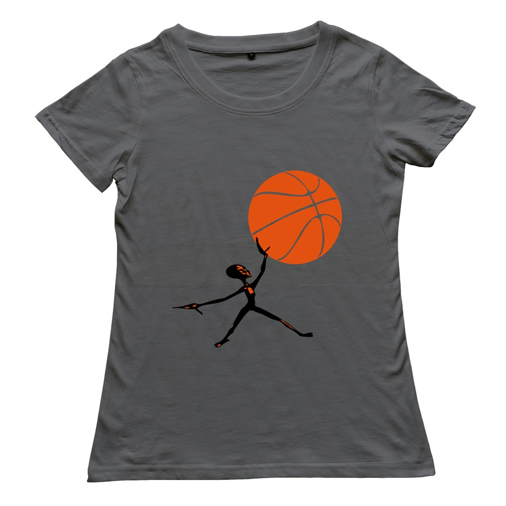2015 100 coton alien basket ball t shirt dr le femmes t shirt pas cher gros dans t shirts de. Black Bedroom Furniture Sets. Home Design Ideas