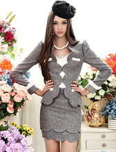 Women Business Dress Suits Formal Office Suits Work Wool Fabricated Women Single Breasted SuitsHZ151(China (Mainland))