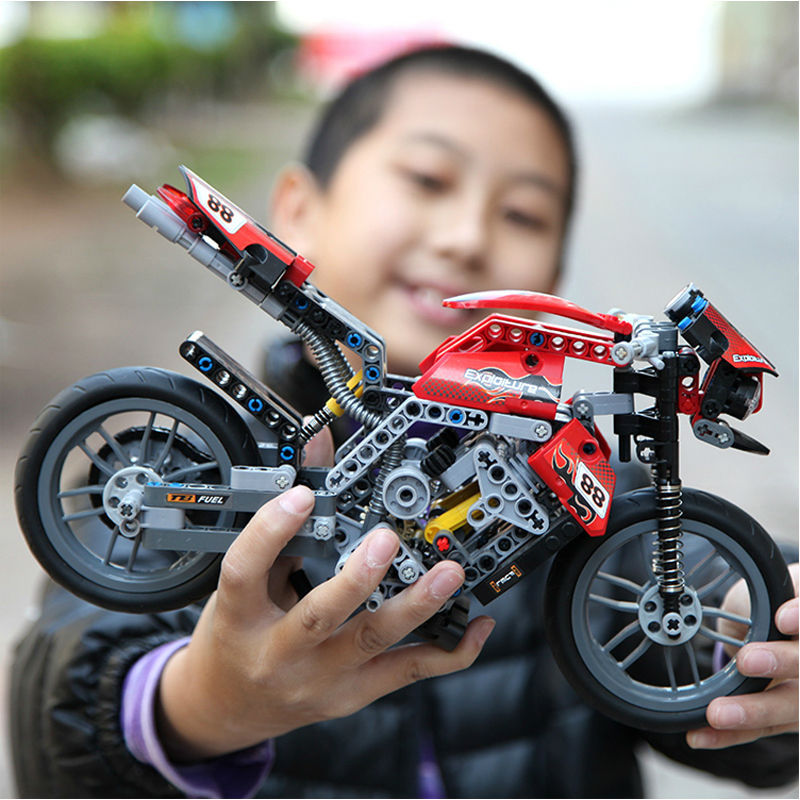 Decool 3353 Motorcycle Building Blocks Compatible 431 CAR Models Building Toy Learning Education Toys(China (Mainland))