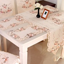 4 Size Luxury Pastoral Tablecloth Classical Embroidery Flower Table Runner Desk Mat Wedding Party Home Decorative Table Cloth(China (Mainland))