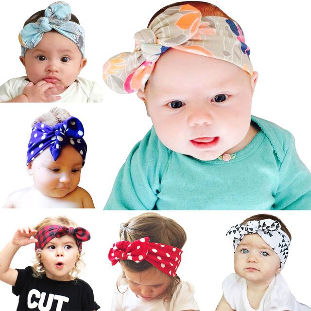 Хлопок повязка на голову головные уборы девушка новорожденный младенец малыш малыш ...