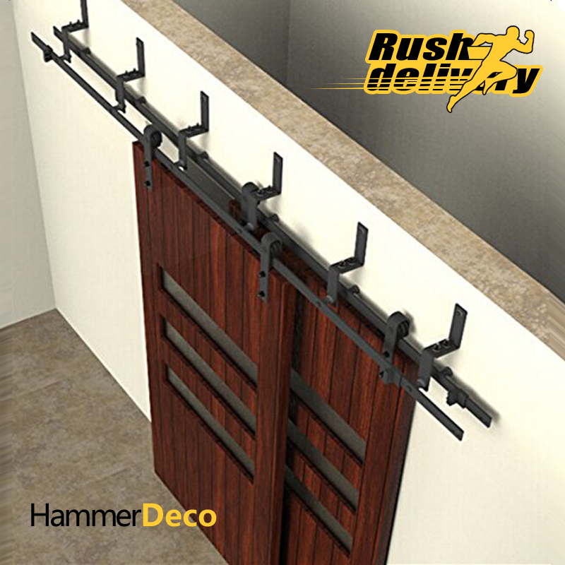 5 to 10ft sliding barn door track top black chungang