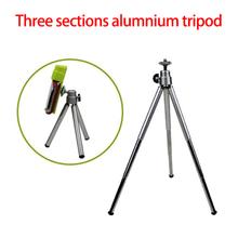 1PCS Mini Tripod Aluminum Metal Lightweight trinodal Tripod Stand Mount For Digital Camera Webcam Phone DV Tripod