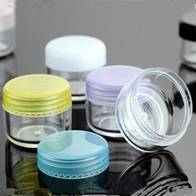 5 5g Small Empty Cosmetic Refillable Bottles Plastic Eyeshadow Makeup Face Cream Jar Pot Container Bottle Multicolor Lid - Riches Jin's store