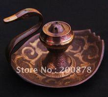 HDC0641   Indian brass Swan Incense burner,4.7 ''long,Retail & wholesale (China (Mainland))