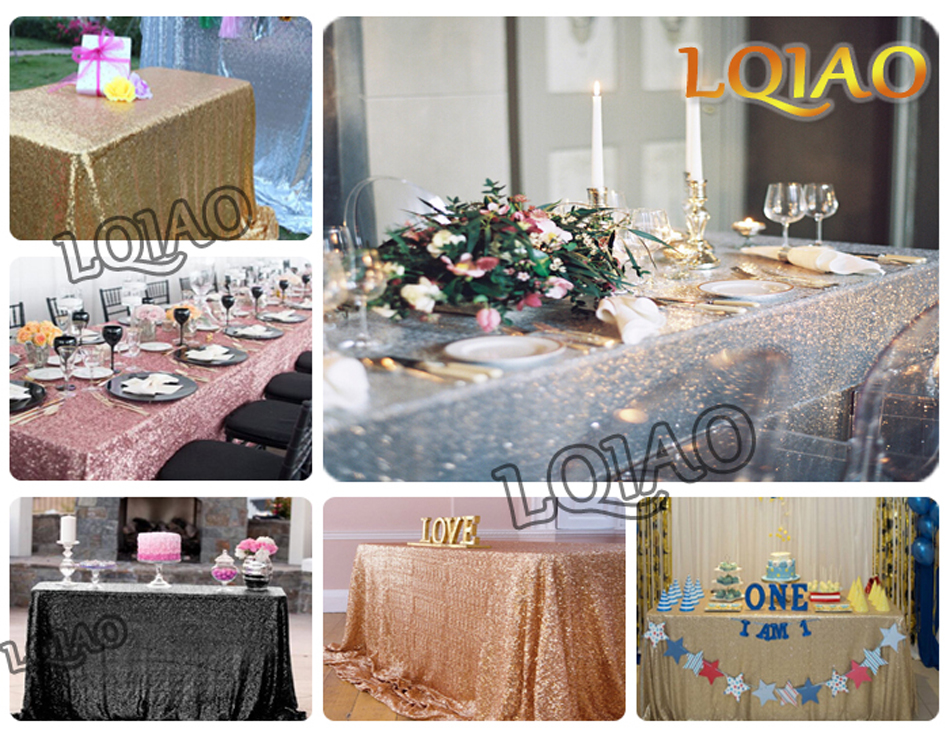 Wholesale 10pcs/lot Rectangle Sequin Tablecloth 90x156inch Silver Sequin Table Cloth for Wedding Party Cake Table Decoration