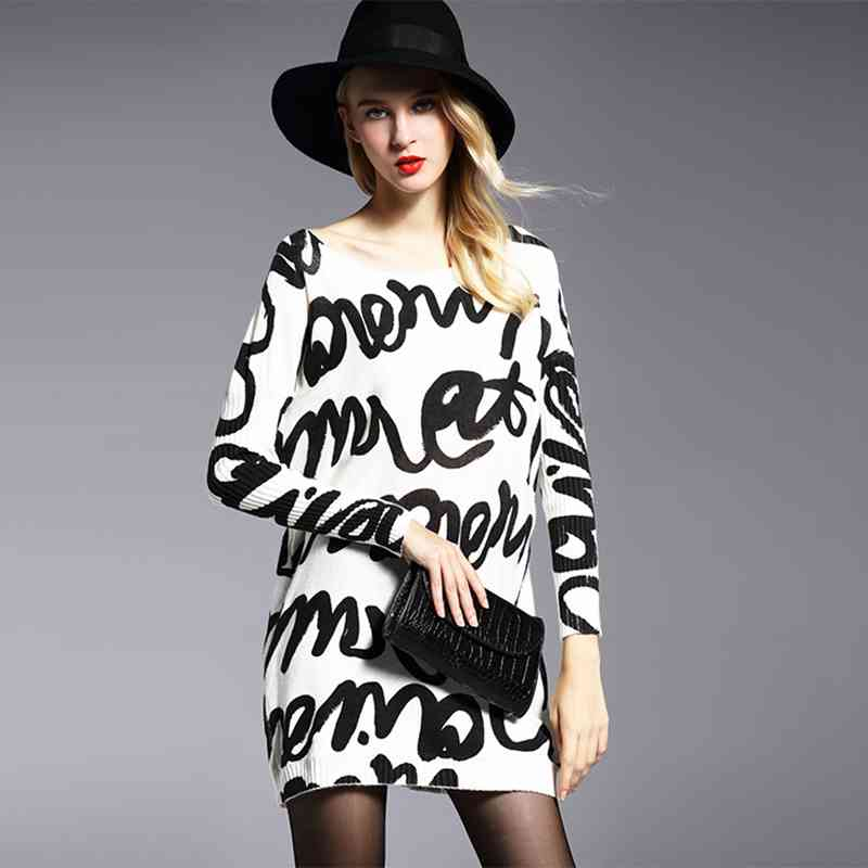 2016 Spring Fashion Women Sweatshirts Batwing Sleeve Slash Neck Knitted Wool Sweater Long Black Women Sport Suit Set Chandal(China (Mainland))