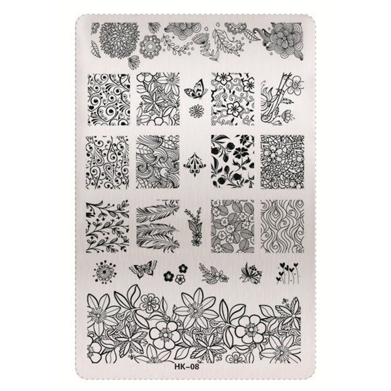 1 Sheet 2016 New Styles 9 5 x 14 5cm HK Series Stainless Steel Stamping Nail