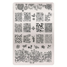 1 Sheet 2016 New Styles 9.5 x 14.5cm HK Series Stainless Steel Stamping Nail Art Image Plate Polish Manicure Stencil Tool HK-08