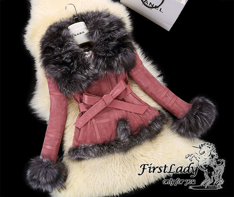 Real fox collars real leather jacket 24