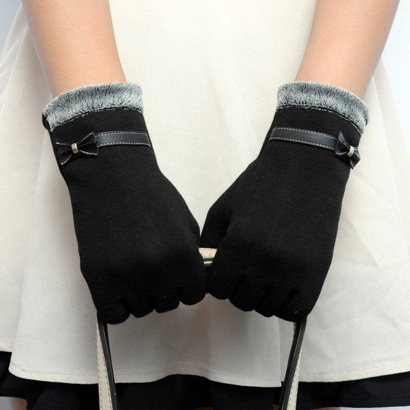 new brand 2015 fashion womens touch screen wrist gloves