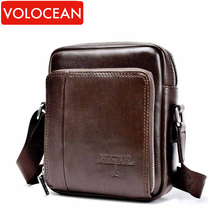 2016 Hot Sale Vintage Genuine Leather And PU Small Bag Men Messenger Bags Mini Mobile Phone Fashion Men's Shoulder Bags(China (Mainland))