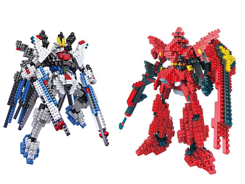 New Gundam Action Figure Model Diamond Building Blocks LOZ 17cm 6 pcs/set Toys for Children 9+(China (Mainland))