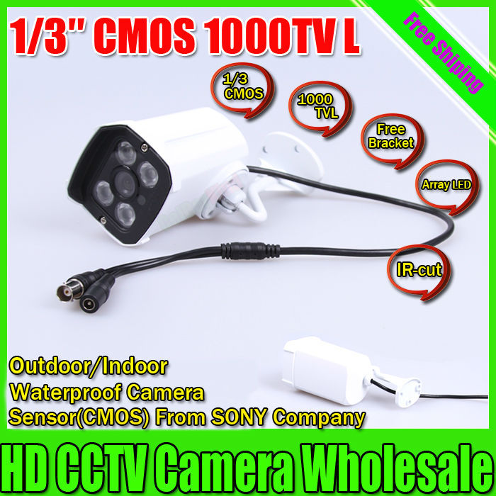 Free shipping CCTV Outdoor camera SONY CMOS 1000TVL Security Surveillance Camera IR 30 meter Waterproof Camera Array Camera(China (Mainland))