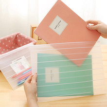 A4 A5 File Bag Brief Style Striped Transparent Document Bag A4 File Folder Office Stationery School supplies(China (Mainland))