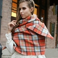 za Cashmere Scarf Winter Scarves Plaid Thicken Warm cape Shawl and Scarves WJ 232 14